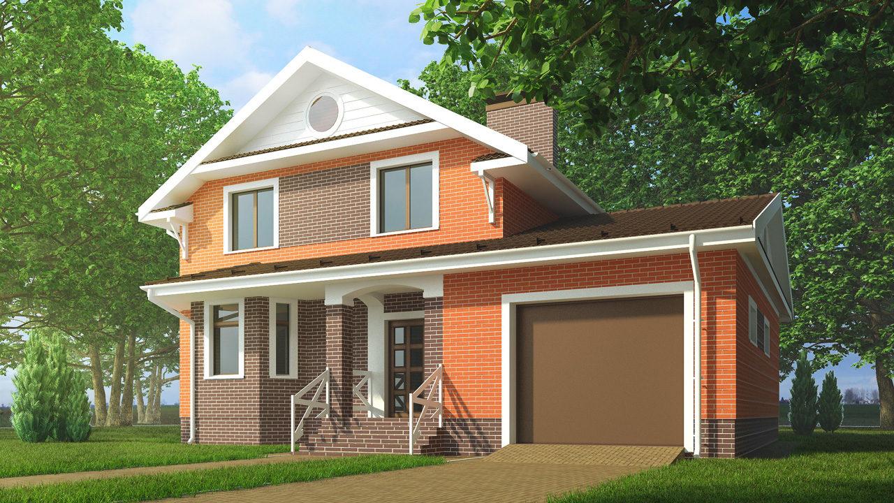 небольшой кирпичный дом с гаражом фото бесплатных объявлений аренде