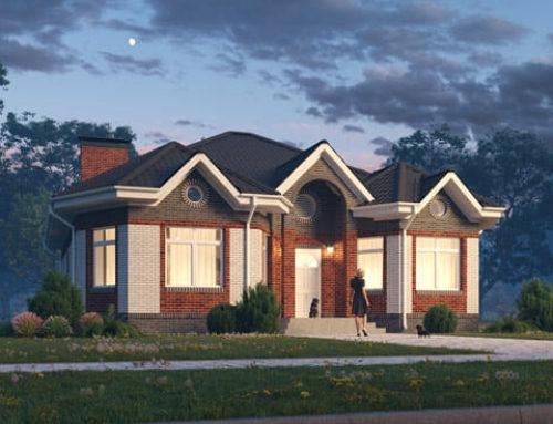 К46-1Э-142 «Проект одноэтажного четырёхкомнатного дома»