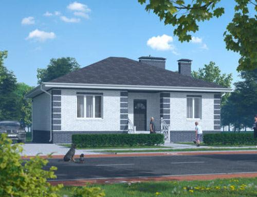 """К48-1Э-105 """"Проект одноэтажного трёхкомнатного жилого дома"""""""