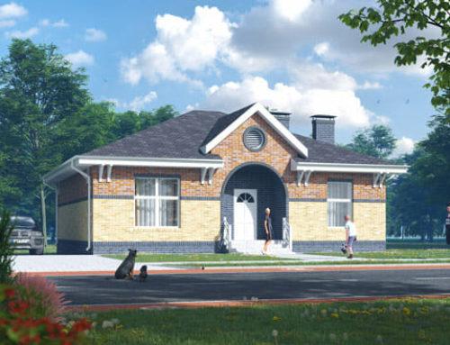 """К49-1Э-105 """"Проект одноэтажного трёхкомнатного жилого дома"""""""