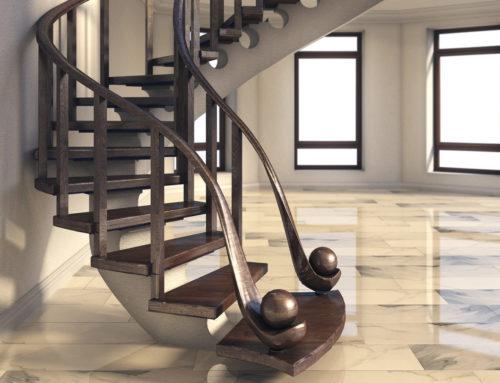 Дизайн лестницы с подсветкой в г. Белгороде