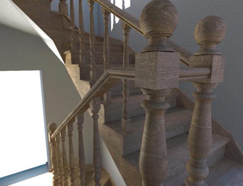 Визуализация лестницы в г. Белгороде